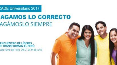 Por un Perú más próspero: ¡CADE Universitario 2017 ya está cerca!
