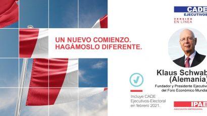 NOTA DE PRENSA – #CADEejecutivos: Klaus Schwab, fundador y Presidente Ejecutivo del Foro Económico Mundial, participará en esta edición