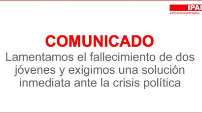 COMUNICADO – Lamentamos el fallecimiento de dos jóvenes y exigimos una solución inmediata ante la crisis política