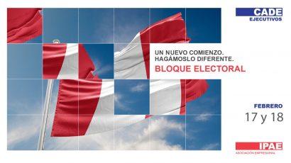 NOTA DE PRENSA – #CADEejecutivos:  Exposición de propuestas de cuatro candidatos presidenciales se realizará este 17 y 18 de febrero en el Bloque Electoral