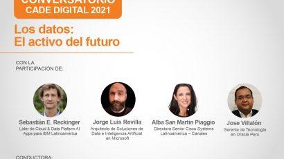 """NOTA DE PRENSA – #CADEdigital: Este jueves se presenta """"Los datos: el activo del futuro"""""""